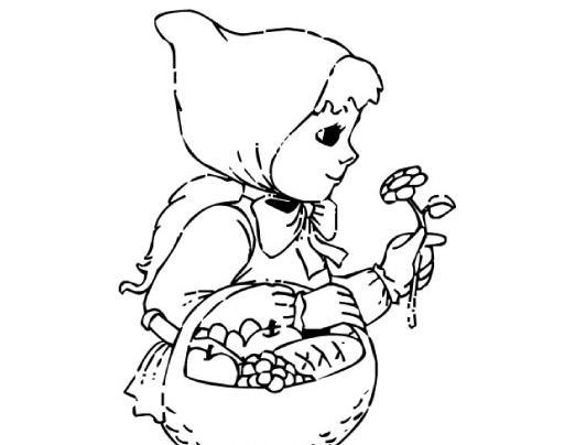Dibujos De Caperucita Roja Para Colorear E Imprimir: Colorear Cuentos: Caperucita Roja