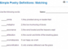Simple poetry definitions: Matching | Recurso educativo 65954